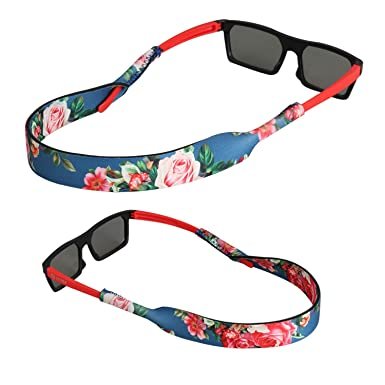 FTALGS Correa de Gafas de Sol [2 Paquetes] Cómodo y Suave Cuerda de Gafas de 100% Neopreno, Mantiene sus Gafas de Seguridad ya sea Ir Deja que uses ...