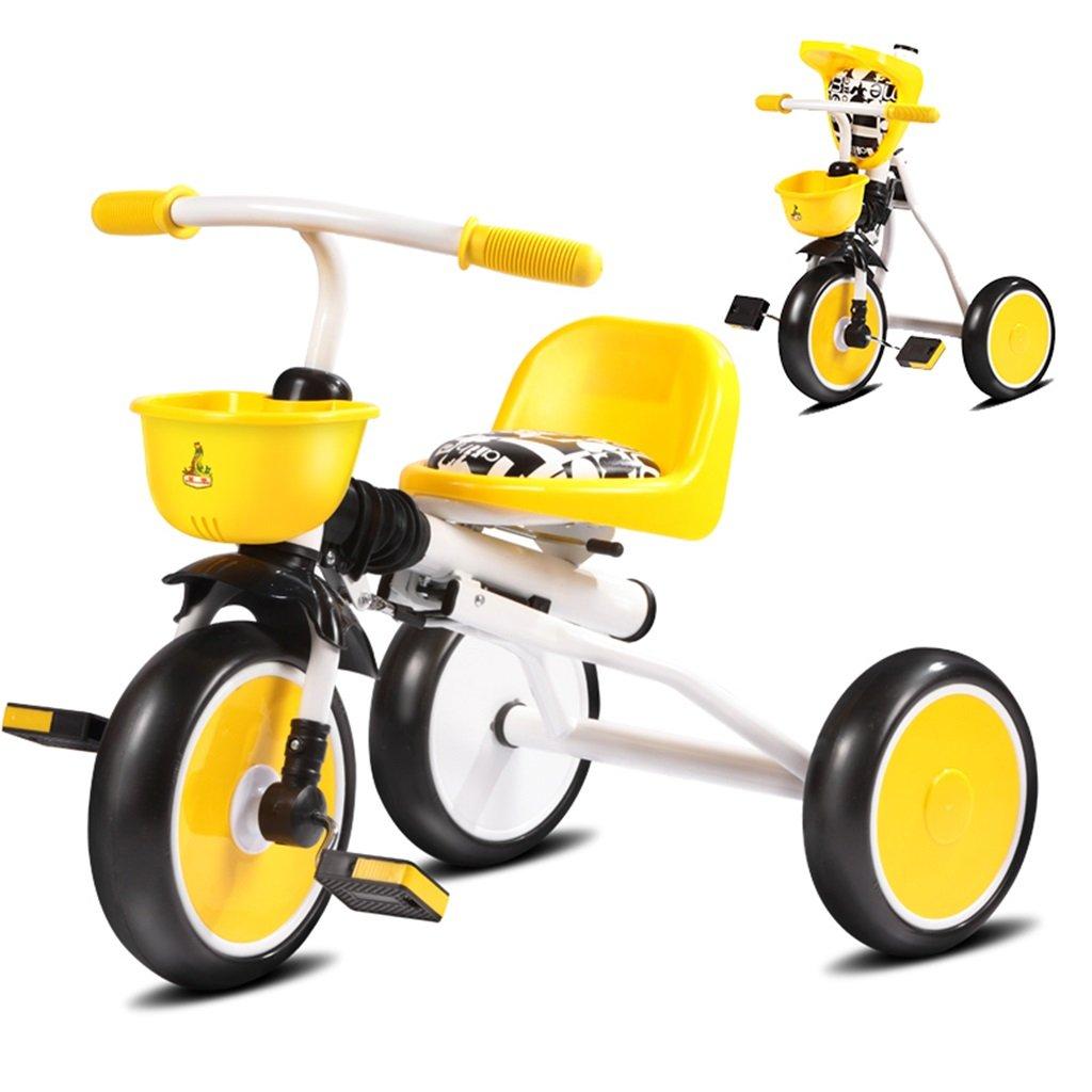 KANGR-子ども用自転車 子供用三輪車カートベビーキャリッジ子供用自転車3輪、折り畳み式、1-3歳 ( 色 : イエロー いえろ゜ ) B07BTWRWBM イエロー いえろ゜ イエロー いえろ゜