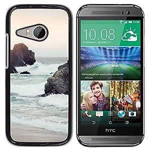 PC/Aluminum Funda Carcasa protectora para HTC ONE MINI 2 / M8 MINI sunset sea sand waves sky nature sun / JUSTGO PHONE PROTECTOR