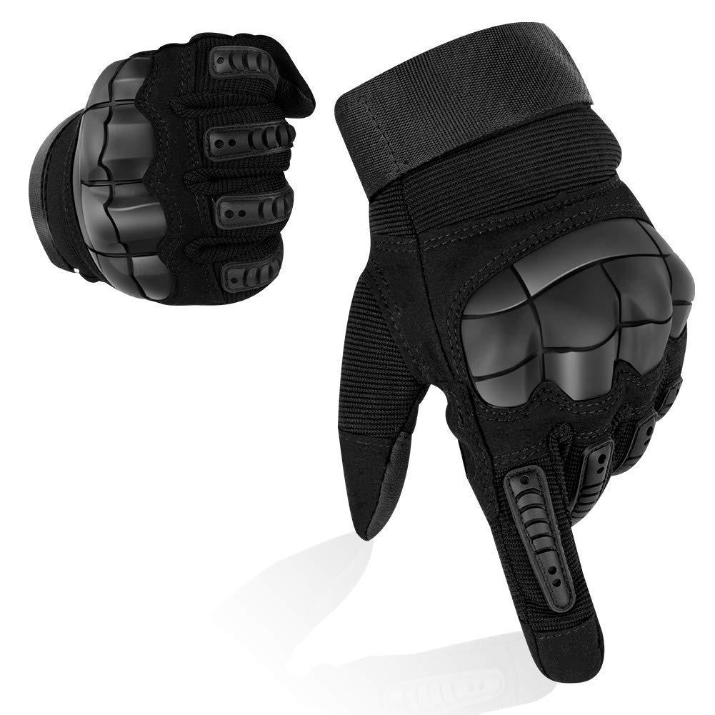 Guantes para pantalla t/áctil de Gusspower unisex antideslizantes perfectos para el aire libre montar en bicicleta guantes de bicicleta termales para invierno transpirables e impermeables