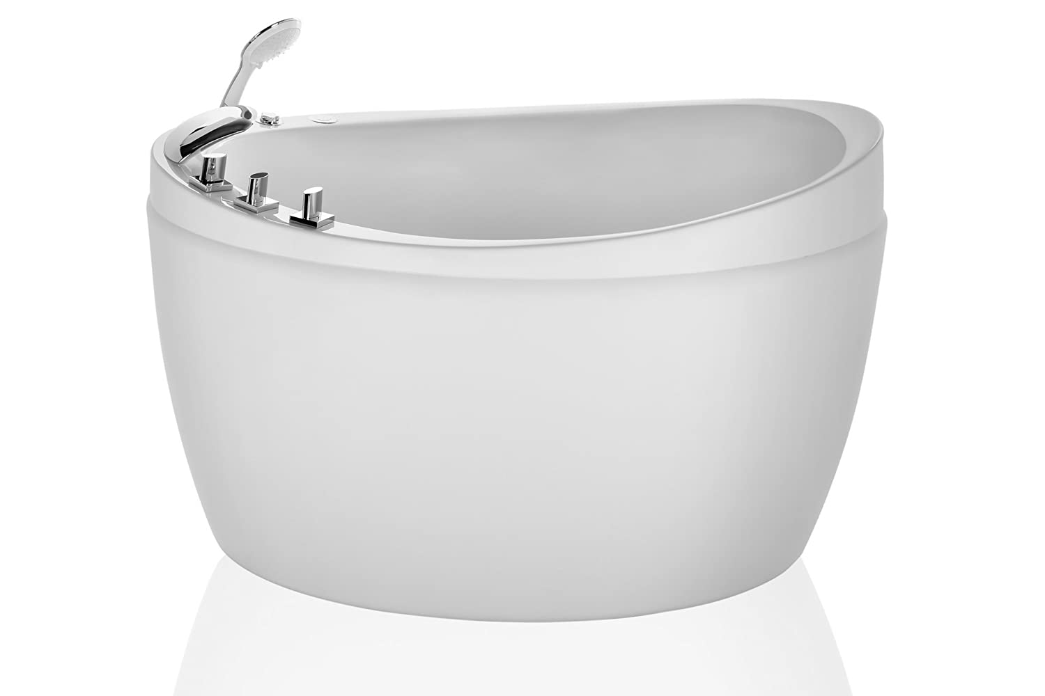 5. Empava 48-inch Freestanding Bathtub Air Micro Bubble Hydrotherapy Oval Japanese Spa Tub