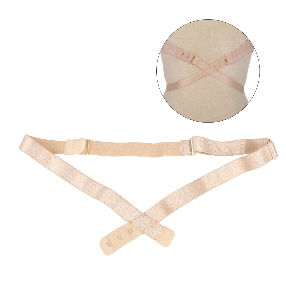 OULII Bra Strap Converters Low Back Extender with 3 Hooks For Women (Skin-color) 6R8154414X3C9Y5108
