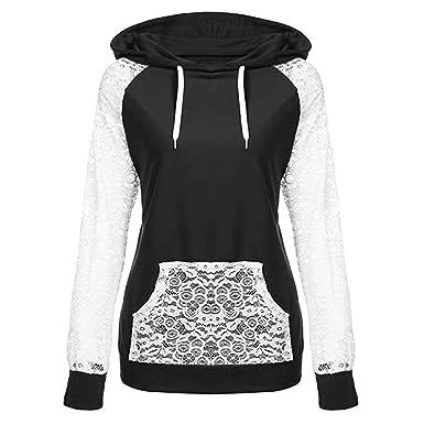 elegant im Stil extrem einzigartig großer rabatt von 2019 FORH Bluse Damen Langarm Sweatshirt Winter Vintage Fashion ...