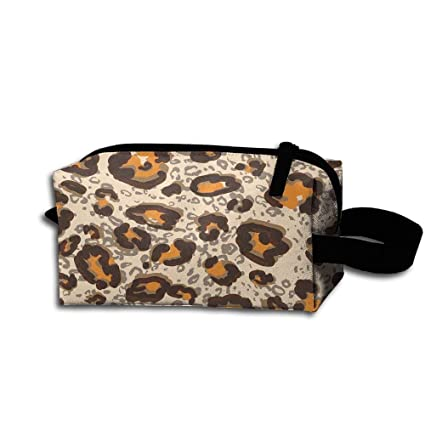 Leopard Print Funny Womens Tolietry Bag Cosmetic Travel Case Accessories Organizer