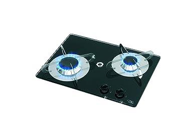 Tablero de cristal térmica – Hornillo de gas (empotrable) de 2 flammiger, grabadora