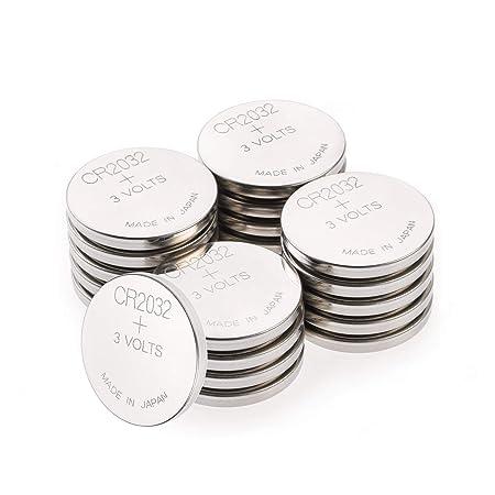 CR2032 3v Lithium Knopfzellen, 20 Stück Li-Mn Knopfbatterien CR 2032-3 Volt im 20-er Pack, Batterien einzeln entnehmbar (GP B