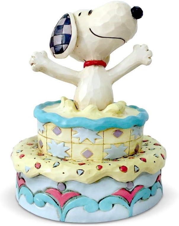 Fantastic Amazon Com Enesco Peanuts By Jim Shore Snoopy In Birthday Cake Personalised Birthday Cards Paralily Jamesorg