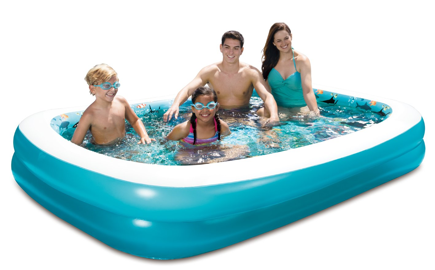 SUMMER WAVES 103''x69''x18'' 3D Rectangular Family Pool with 1 Pair of 3D Goggles. by SUMMER WAVES (Image #3)
