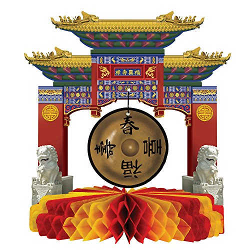 Asian Gong Centerpiece ()