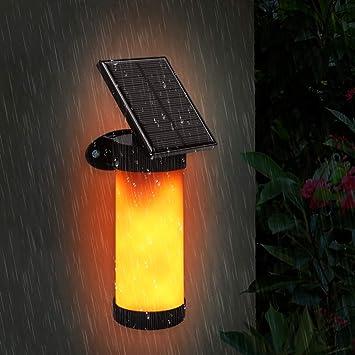 102 Solaire Led Murale Applique Avec Économie Luminaire Dansante Lampe Suspension Flamme Ipx5 Dark Auto Imperméable D'énergie Sensor mNnwv80