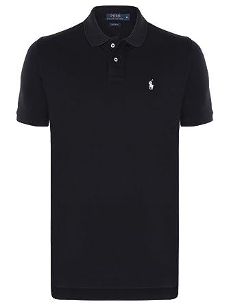 66241a8d42457f Ralph Lauren Poloshirt Custom Fit Schwarz Small Pony Weiß