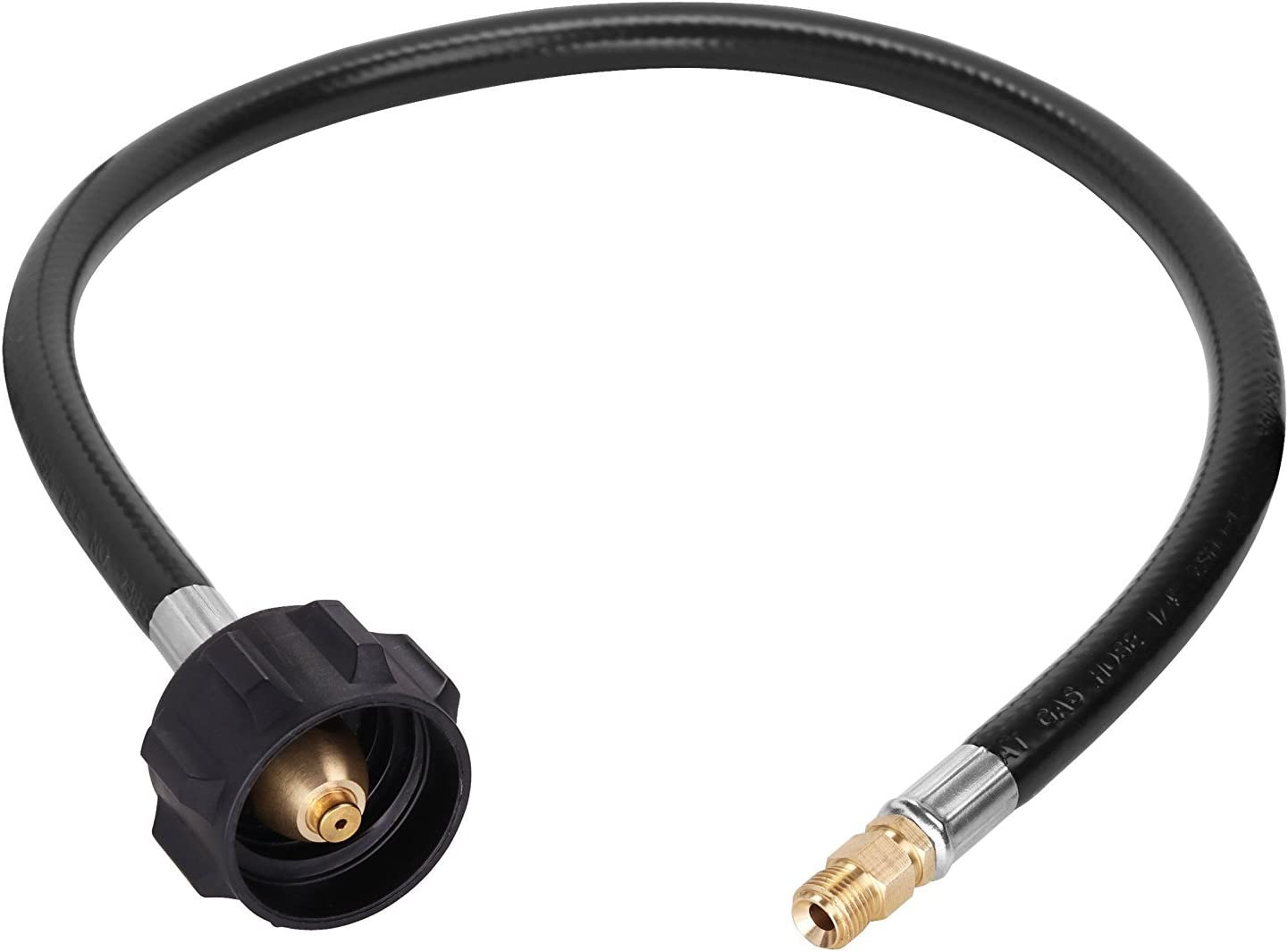 """Propane Pigtail Hose Connector With Acme Nut X 1//4 Inch Male NPT Flare-20 Long /"""""""