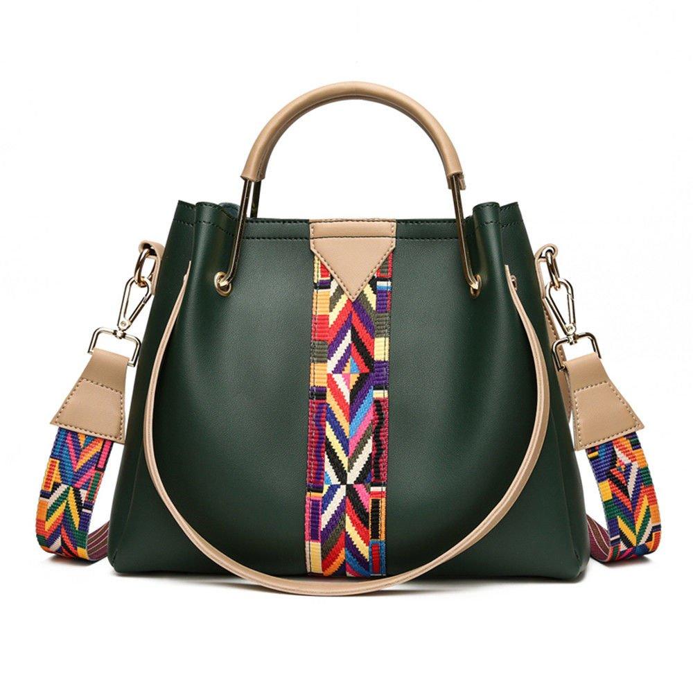 Bucket Bag With Large Capacity Single Shoulder Bag,Green,30X25X12Cm