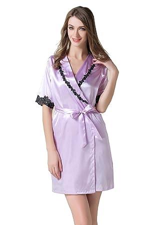 Ropa de dormir de las mujeres trajes de dormir sexy conjuntos de pijamas de seda Camisas