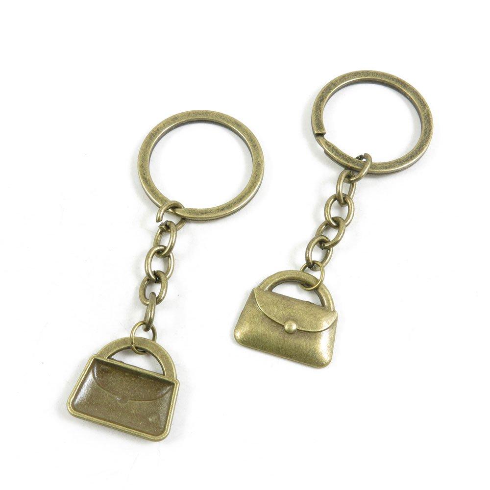 200 Pieces Fashion Jewelry Keyring Keychain Door Car Key Tag Ring Chain Supplier Supply Wholesale Bulk Lots D3DO6 Handbag Purse Shoulder Bag