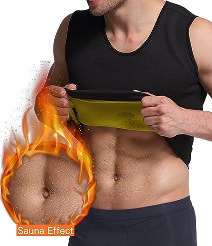 0517f5f522310 UTOSI Men s Neoprene Sweat Sauna Suit Vest Waist Trainer Hot Body Shaper  Tank Top Weight Loss