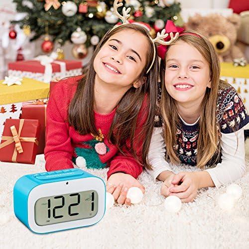 Multifonction Varanda Snooze thermom/ètre double alarme compte /à rebours /Écran LED num/érique avec r/étro/éclairage intelligent et /émojis dynamiques jour R/éveil LED de voyage minuterie date