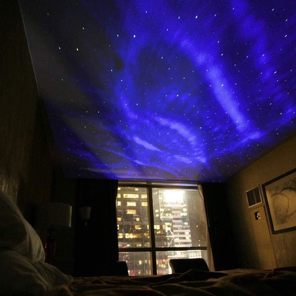 Lumi/ères de f/ête USB rotation ciel /étoil/é Projection Night lampe Projection romantique LED Light Gift Party Supplies Veilleuses-projecteurs 0703