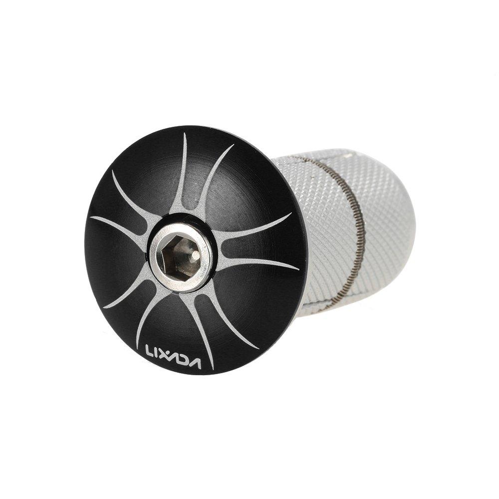 Lixada 1pc Bike Fork Steerer Headset Top Cap Compression Compressor Adjuster Top Cap Plug Adjustable Locking