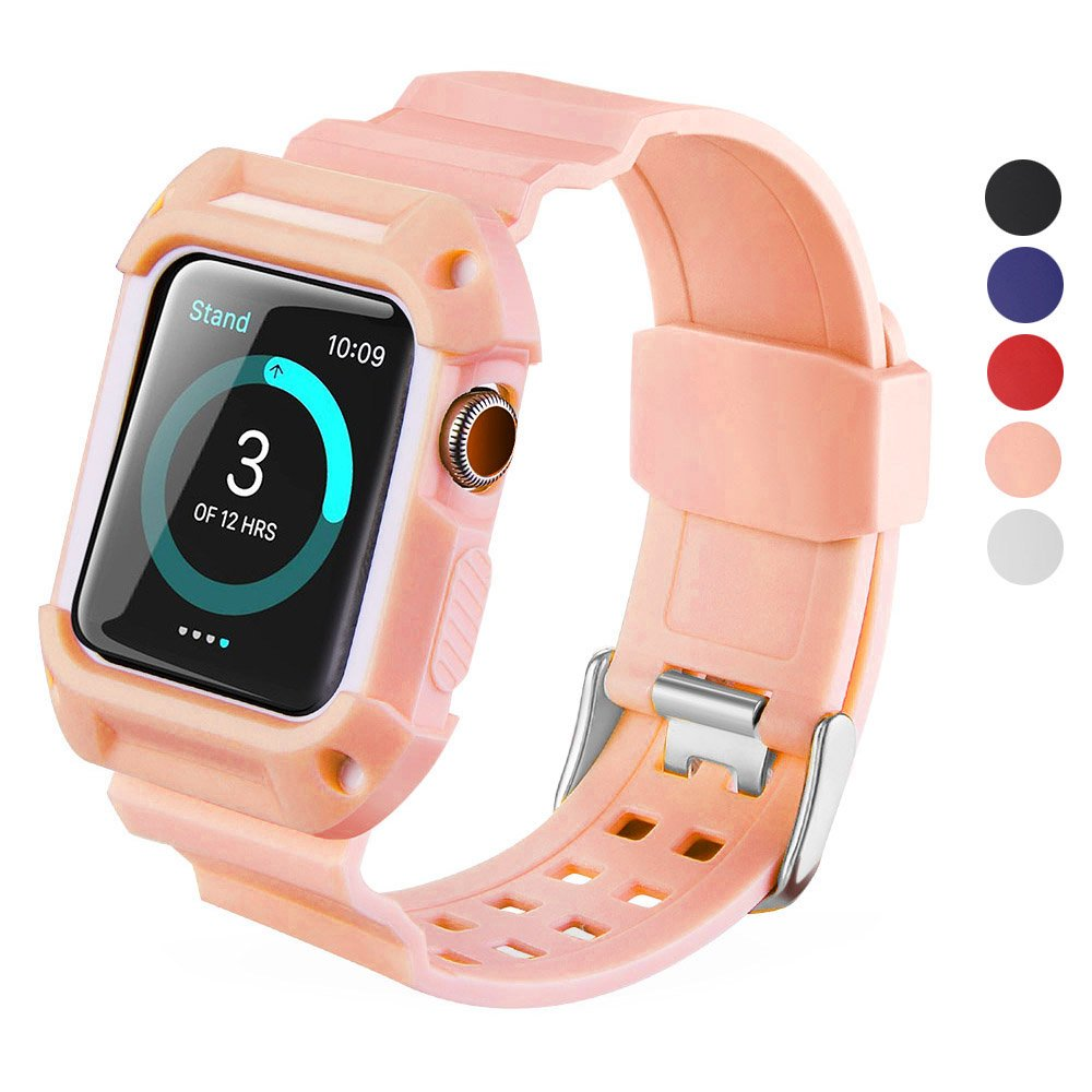 99c8a5e9ce3 Amazon.com  DELELE for Apple Watch Band with Case 38mm 42mm