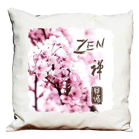Cojín decorativo con diseño de flores de cerezo zen: Amazon ...