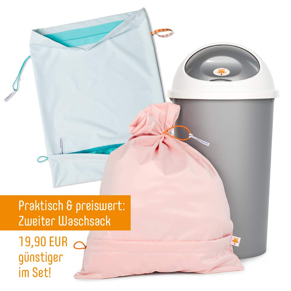 Foxy Baby/® Waschsack und Windeleimer f/ür Stoffwindeln Sparpack Orange