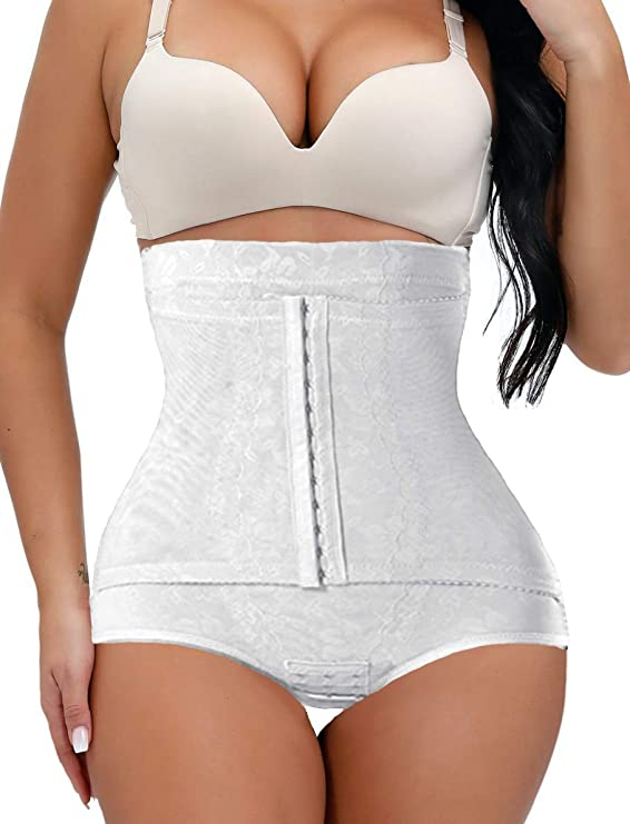 Vintage Lingerie | New Underwear, Bras, Slips ShaperQueen 1010 Womens Best Waist Cincher Body Shaper Trainer Girdle Faja Tummy Control Underwear Shapewear (Plus Size) $39.99 AT vintagedancer.com