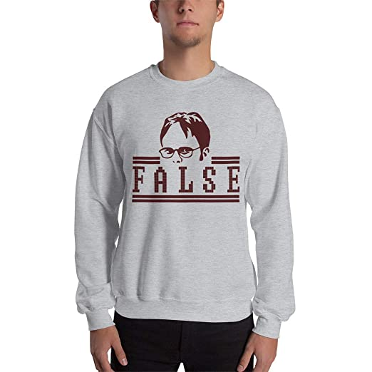 Dwight Schrute False Meme The Office Tv Series Sweatshirt Ugly