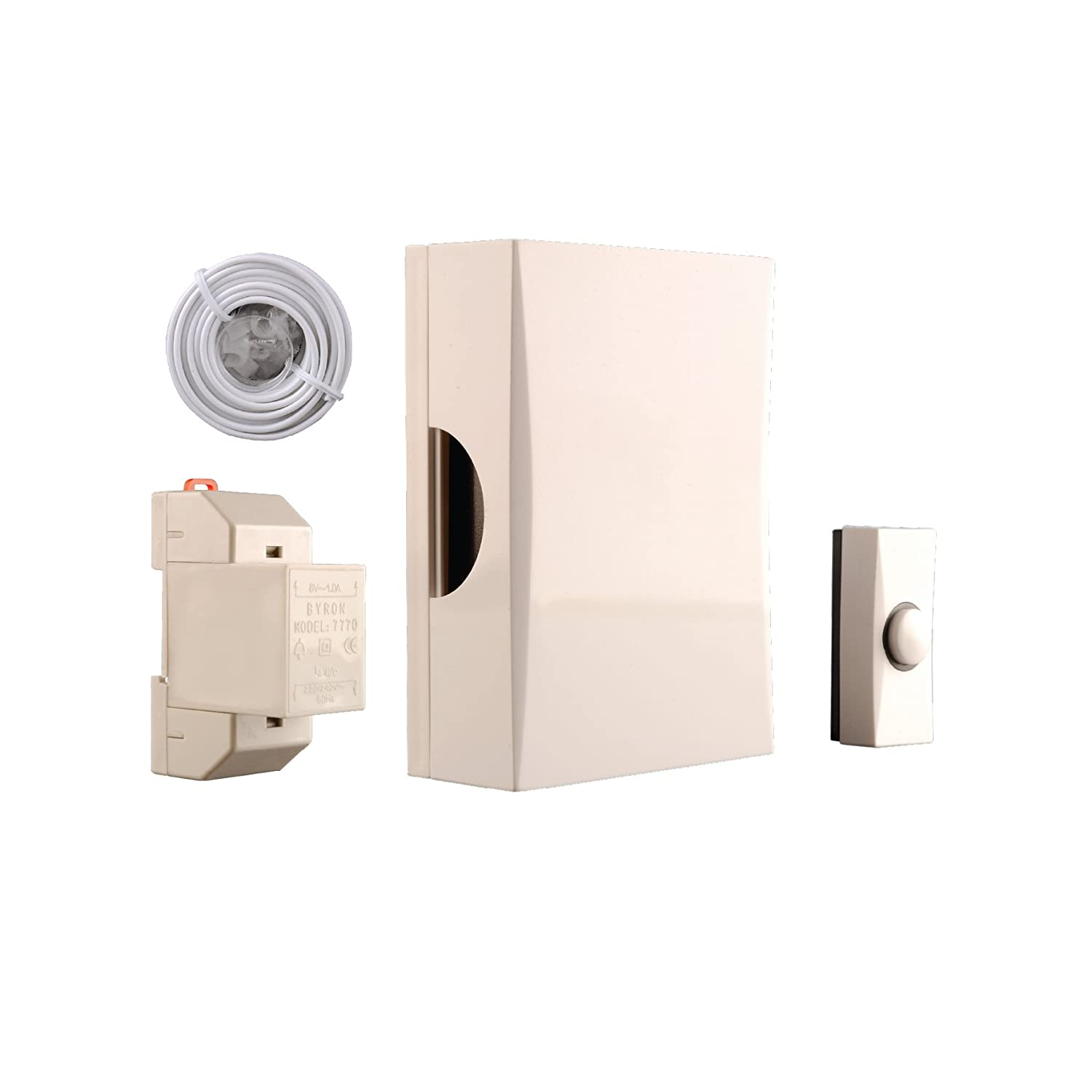 Byron 720K Wired doorbell kit – Complete set – Classic sound Smartwares Safety & Lighting