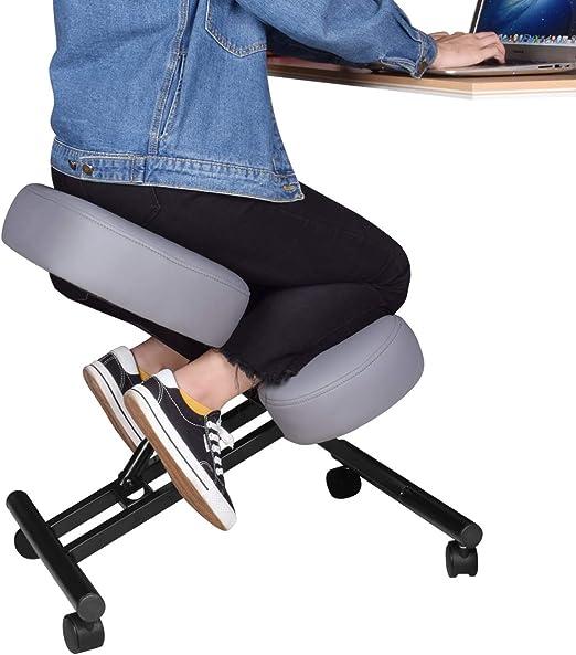 DRAGONN Silla ergonómica para Rodillas, Taburete Ajustable para el hogar y la Oficina, Mejora tu Postura con un Asiento en ángulo, Cojines Gruesos y cómodos: Amazon.es: Hogar