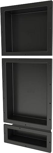 Tile Redi USA RNT1614S-20-6 Shower Shelf, 16 x 40 , Black