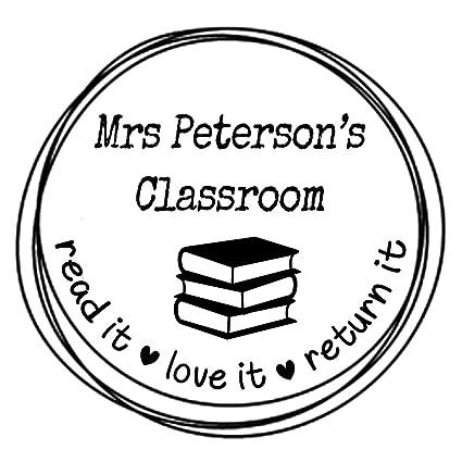 amazon com classroom book stamp read it love it return it custom