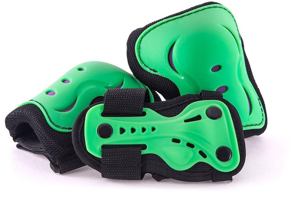 SFR Essentials AC760 - Juego de almohadillas triples, talla grande, color verde (edad 8 – 13) color verde (edad 8 - 13) Stateside