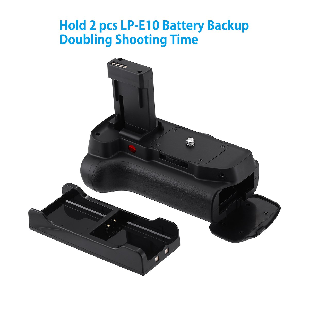 AA-Size Battery Holder with Infrared Remote Control for Canon EOS 1100D//1200D//1300D//T3//T5//T6 Digital SLR Camera 2 /× High Capacity 1600mAh LP-E10 Batteries Powerextra Vertical Battery Grip