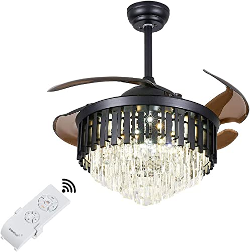Modern Crystal Invisible Ceiling Fan