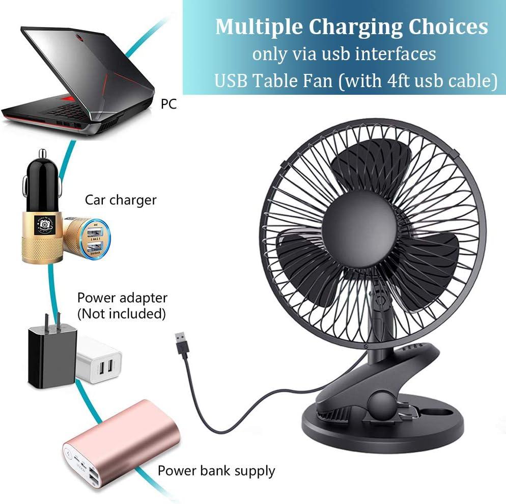 QINUKER Ventilador de Clip oscilante accionado con USB de