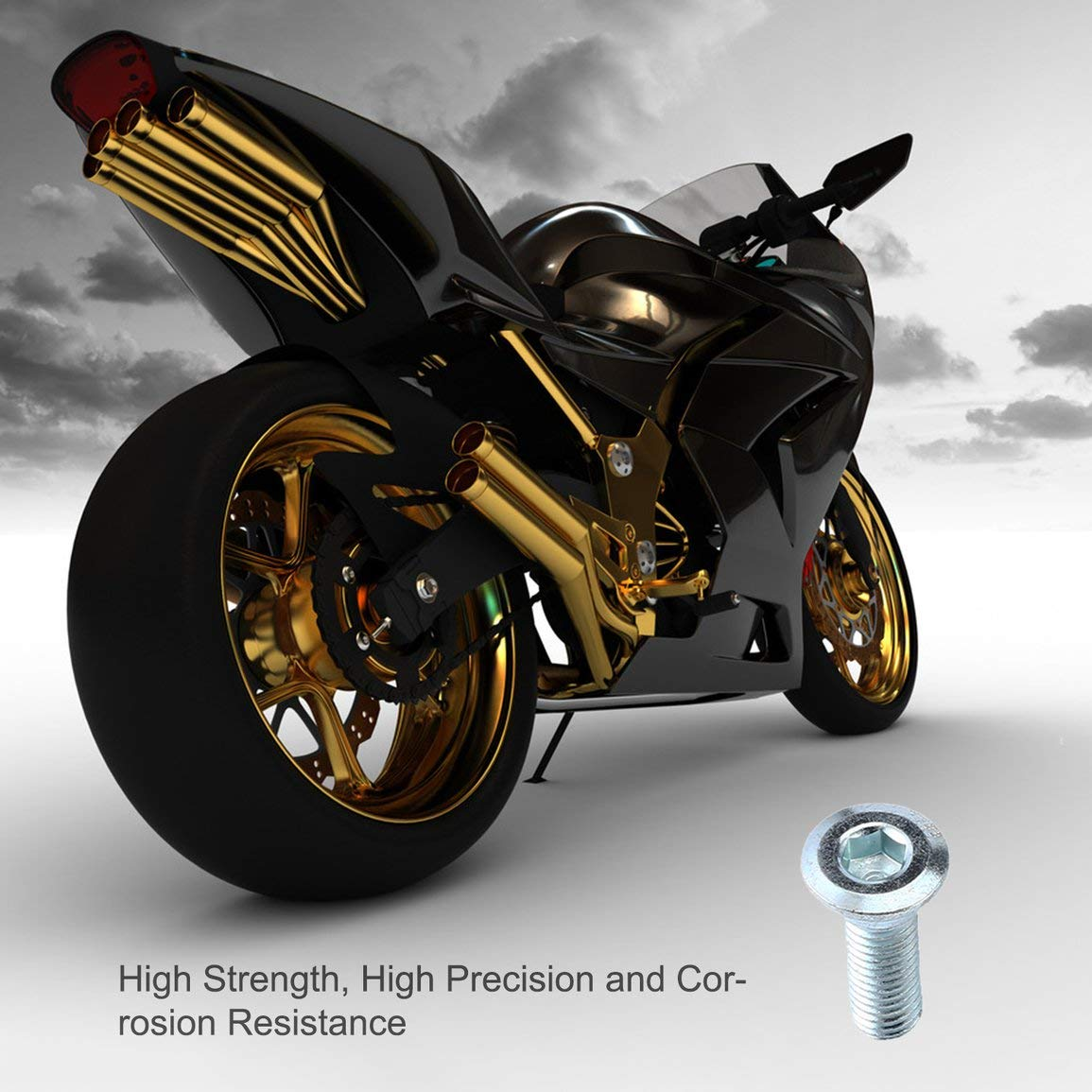 20off-road Motorcycle Kayo160 T8 Ph Small Proud C Disgust Dish Screw Motocross Color:Sliver Bolt of Brake Disc Dirt Pit Bike M8