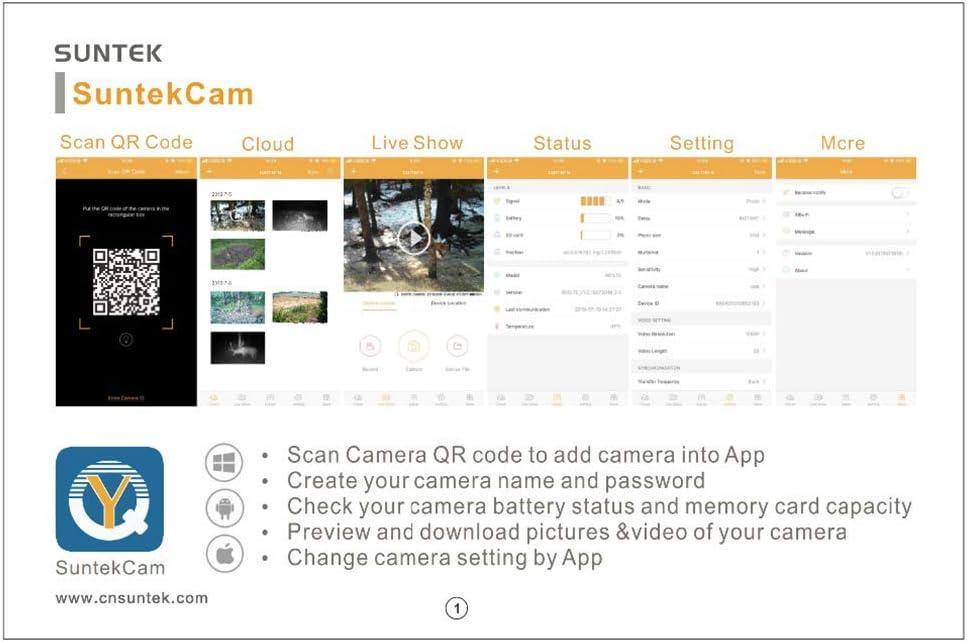 YTLJJ App 4G Cámara de Caza Nocturna con Servicio en La Nube ...