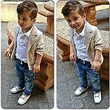 Baby Boy Gentleman 3 Pieces Shirt Jacket Jeans