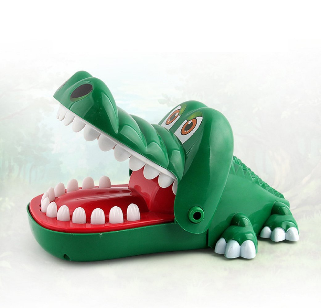 Maikerry Crocodile Dentist Game Big Crocodile Biting Finger Alligator Dental Game with a Gentle Toothache Hand for Kids 1 to 4 Players Ages 4 and Up
