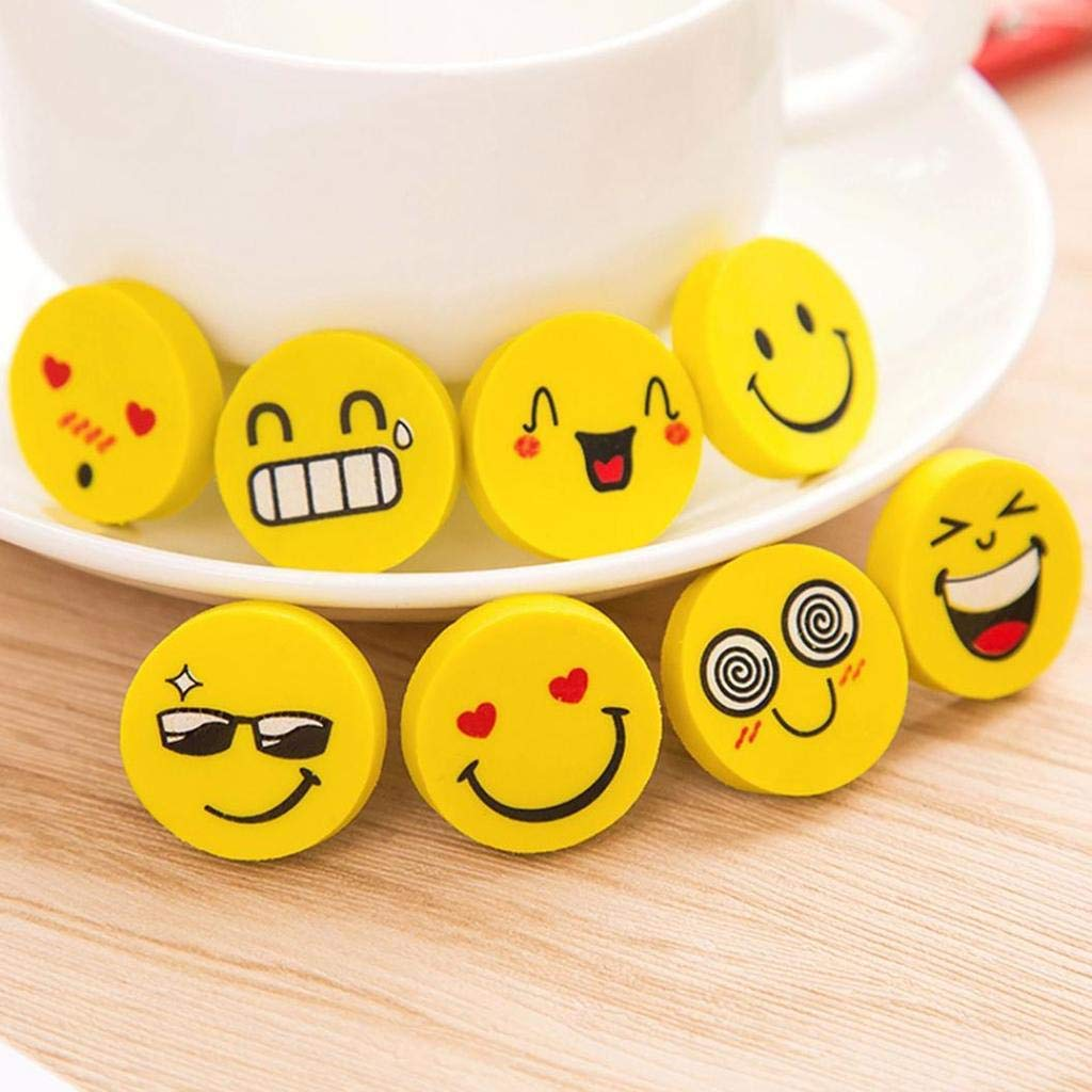 Party Propz Emoji Smiley Face Erasers for Kids