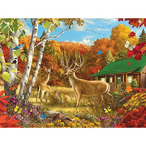 Bits and Pieces - 1500 Piece Jigsaw Puzzle for Adults - Somewhere in a Field - 1500 pc Fall Animal Jigsaw by Artist Alan Giana
