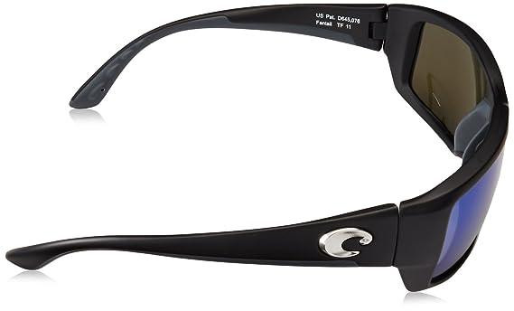35e465e5a68 Amazon.com  Costa del Mar Unisex-Adult Fantail TF 11 OBMGLP Polarized  Iridium Rectangular Sunglasses  Shoes