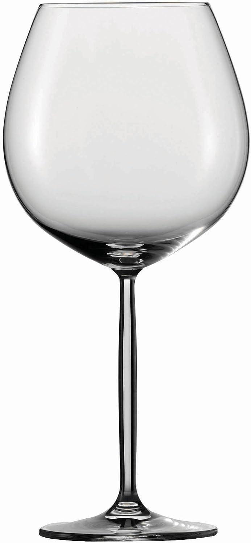 Schott Zwiesel Tritan Crystal Glass Diva Stemware Collection Claret Burgundy Red Wine Glass, 28.4-Ounce, Set of 6