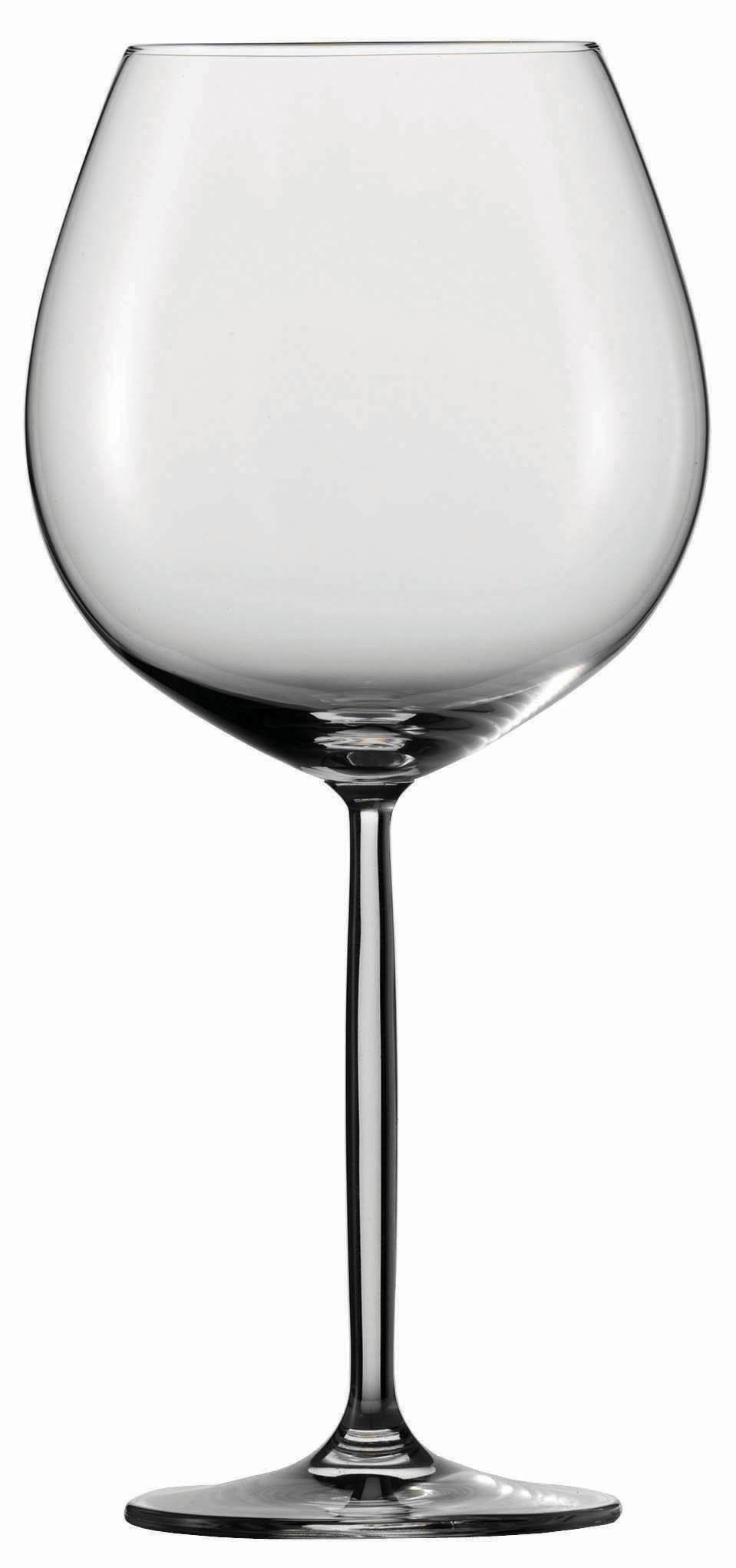 Schott Zwiesel Tritan Crystal Glass Diva Stemware Collection Claret Burgundy Red Wine Glass, 28.4-Ounce, Set of 6