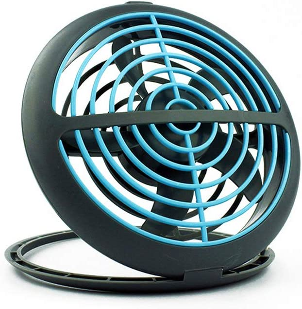 JZWX Small USB Desktop Fan Mini Portable Cooling for Office Dormitory Outdoor Travel Camping Children Desktop,bluegray