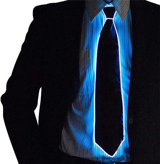xqzs Corbata Brillante Novedad Corbata Creativa Corbata LED luz ...