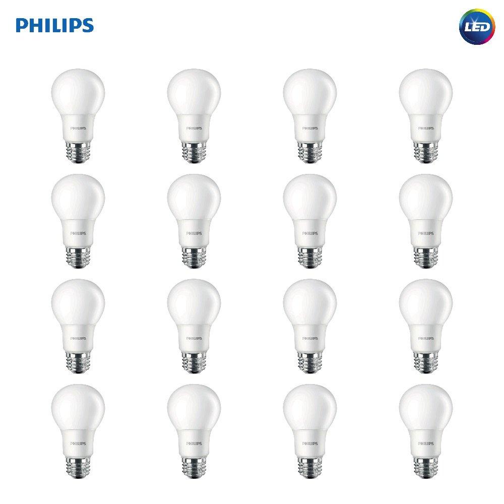 Best Light Bulbs For Bathroom Non Dimmable Led Lighting Controller Philips A19 Frosted Bulb 800 Lumen 2700 Kelvin 85 Watt 60 Equivalent E26 Base Soft White 16 Pack
