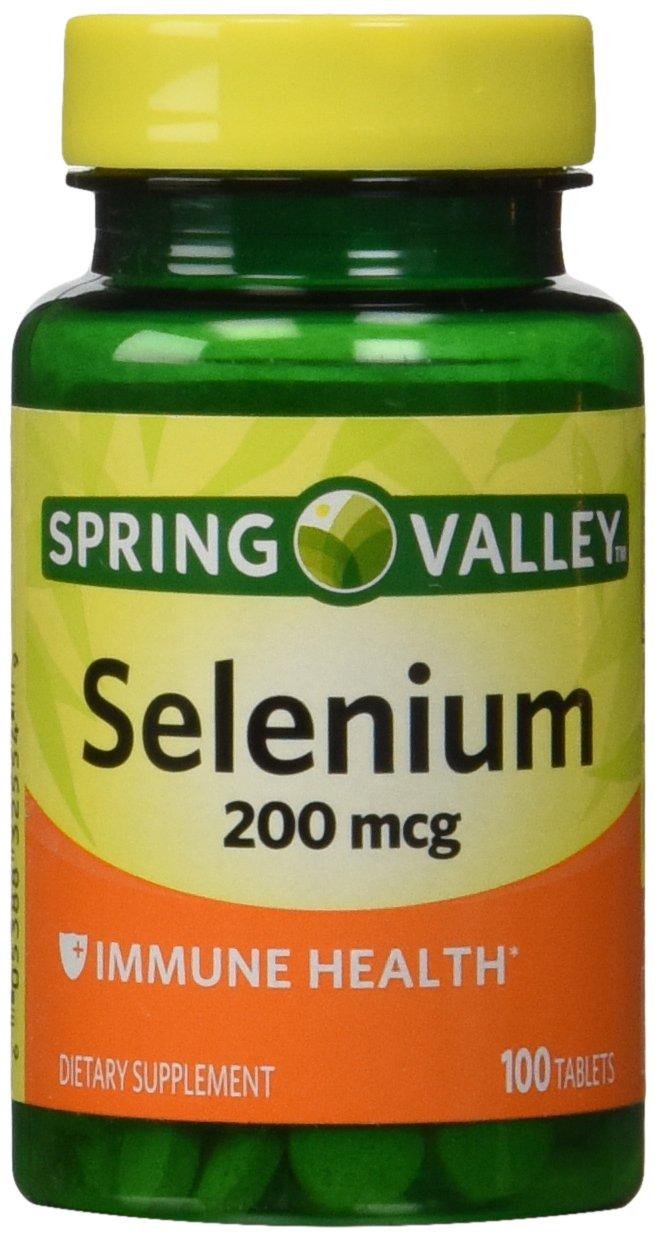 Spring Valley - Selenium 200 mcg, 100 Tablets