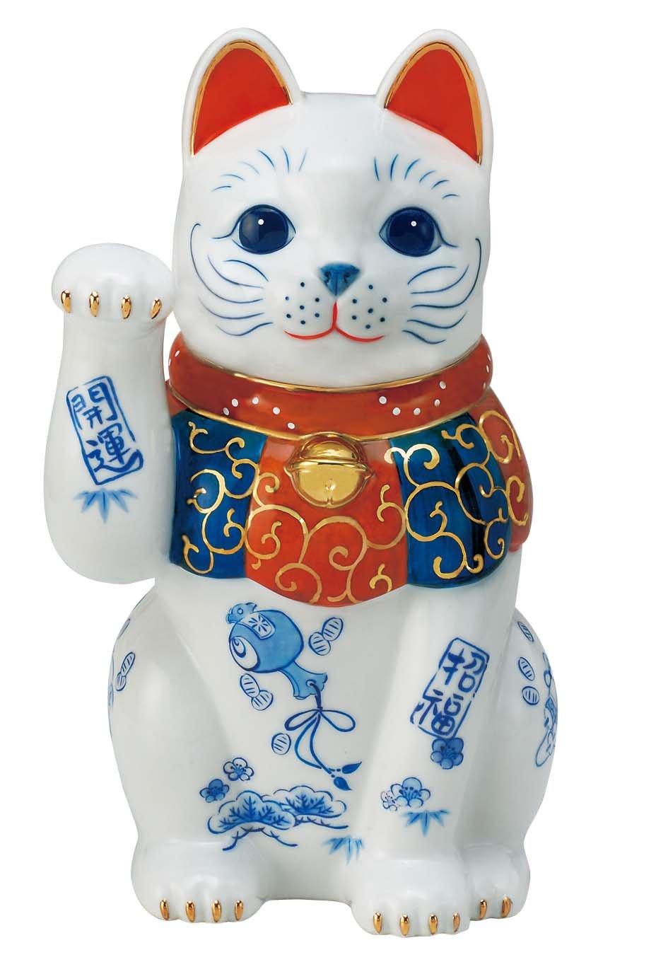 染錦開運招福招き猫(8号) AM-Y7434 B00TX0GSNG